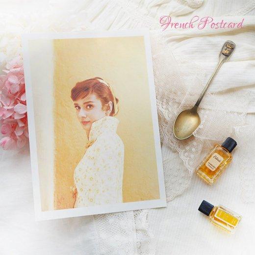 フレンチ ポストカード オードリー・ヘップバーン 1955(Audrey Hepburn)【画像6】