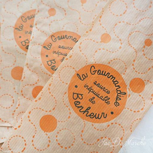 マルシェ袋 フランス 海外市場の紙袋(La gourmandise・Craft)5枚セット【画像2】