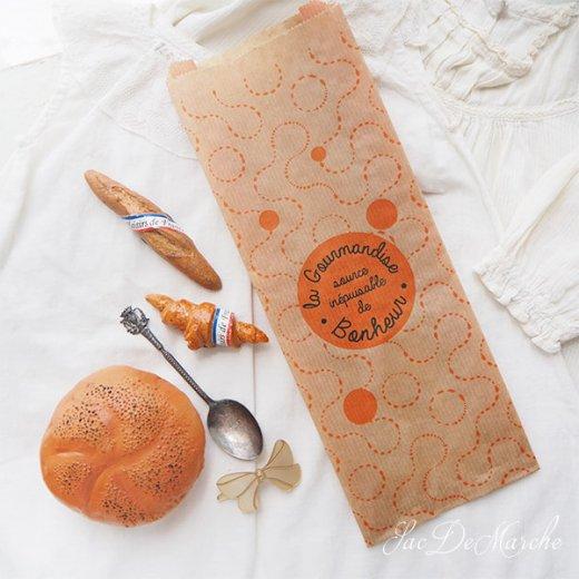 マルシェ袋 フランス 海外市場の紙袋(La gourmandise・Craft)5枚セット【画像3】
