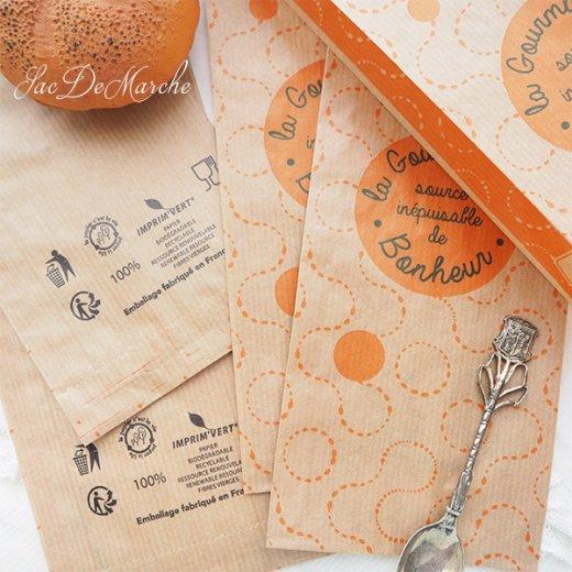マルシェ袋 フランス 海外市場の紙袋(La gourmandise・Craft)5枚セット【画像4】