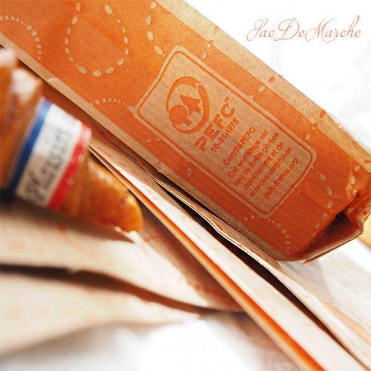 マルシェ袋 フランス 海外市場の紙袋(La gourmandise・Craft)5枚セット【画像6】