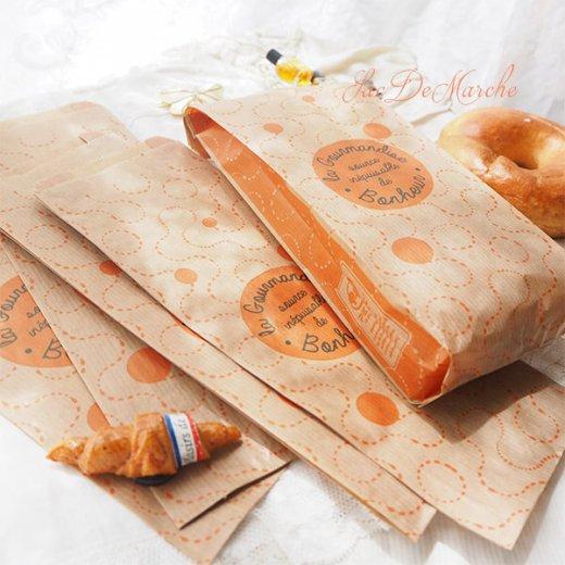 マルシェ袋 フランス 海外市場の紙袋(La gourmandise・Craft)5枚セット【画像8】