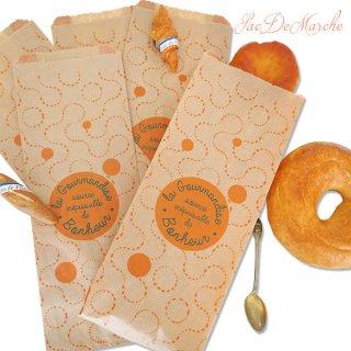 マルシェ袋 フランス 海外市場の紙袋(La gourmandise・Craft)5枚セット