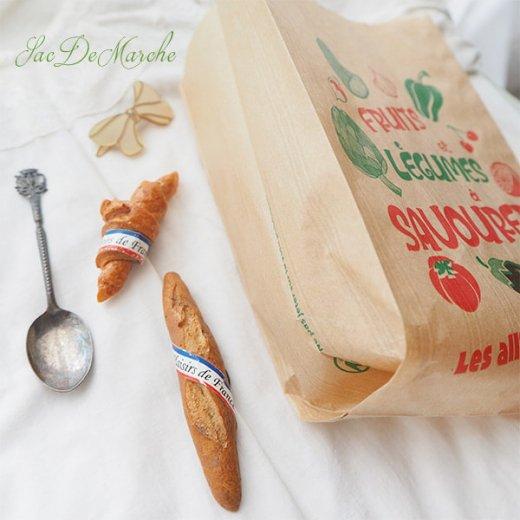 マルシェ袋 フランス 海外市場の紙袋(Fruits et legumes)5枚セット【画像4】