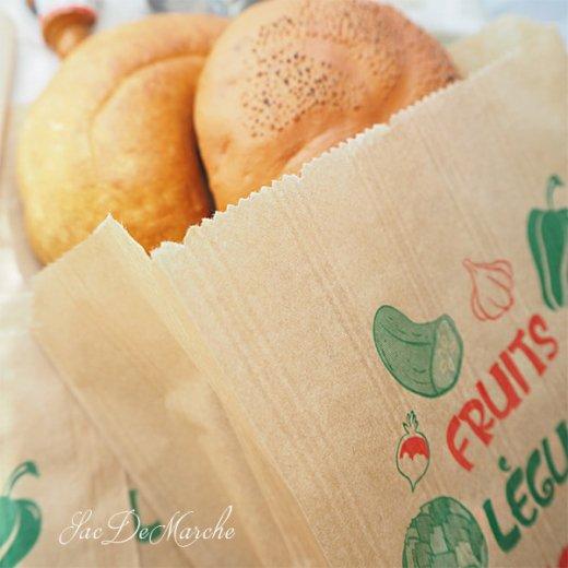 マルシェ袋 フランス 海外市場の紙袋(Fruits et legumes)5枚セット【画像5】