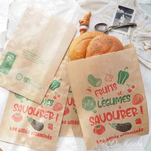 マルシェ袋 フランス 海外市場の紙袋(Fruits et legumes)5枚セット【画像8】