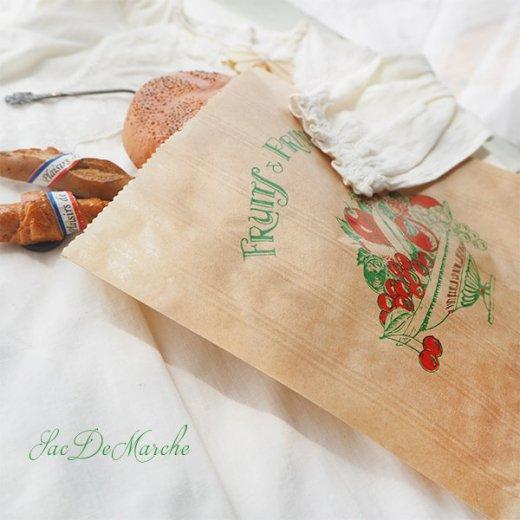 マルシェ袋 フランス 海外市場の紙袋(Fruits & Primeurs)5枚セット【画像3】