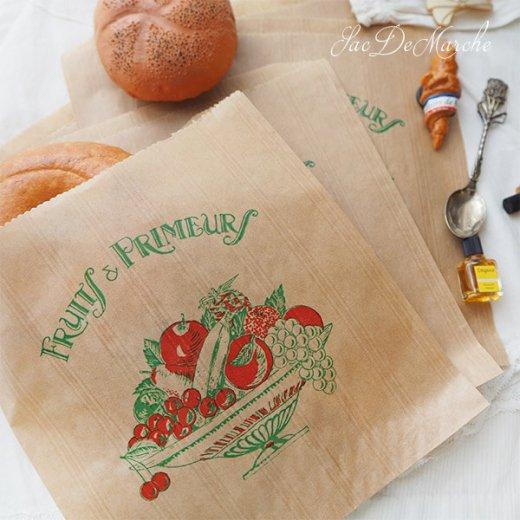 マルシェ袋 フランス 海外市場の紙袋(Fruits & Primeurs)5枚セット【画像4】