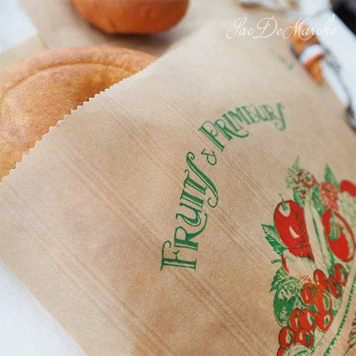 マルシェ袋 フランス 海外市場の紙袋(Fruits & Primeurs)5枚セット【画像5】