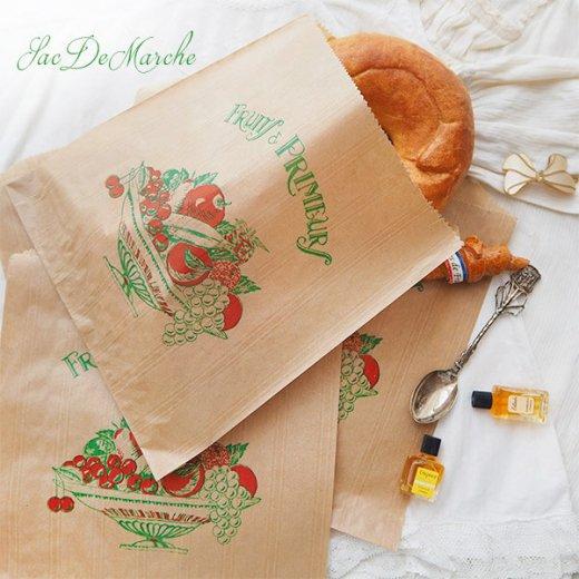 マルシェ袋 フランス 海外市場の紙袋(Fruits & Primeurs)5枚セット【画像7】