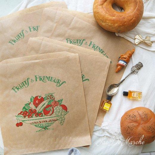 マルシェ袋 フランス 海外市場の紙袋(Fruits & Primeurs)5枚セット【画像8】