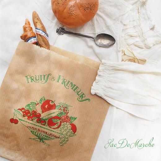 マルシェ袋 フランス 海外市場の紙袋(Fruits & Primeurs)5枚セット【画像9】