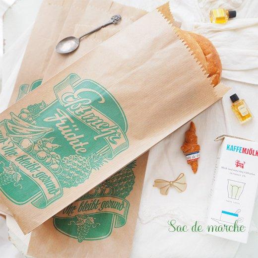 マルシェ袋 ドイツ 海外市場の紙袋(フルーツC)5枚セット【画像2】