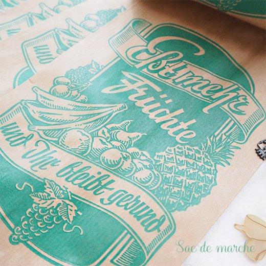 マルシェ袋 ドイツ 海外市場の紙袋(フルーツC)5枚セット【画像3】