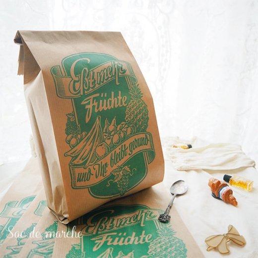 マルシェ袋 ドイツ 海外市場の紙袋(フルーツC)5枚セット【画像5】