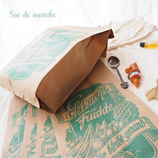 マルシェ袋 ドイツ 海外市場の紙袋(フルーツC)5枚セット【画像7】