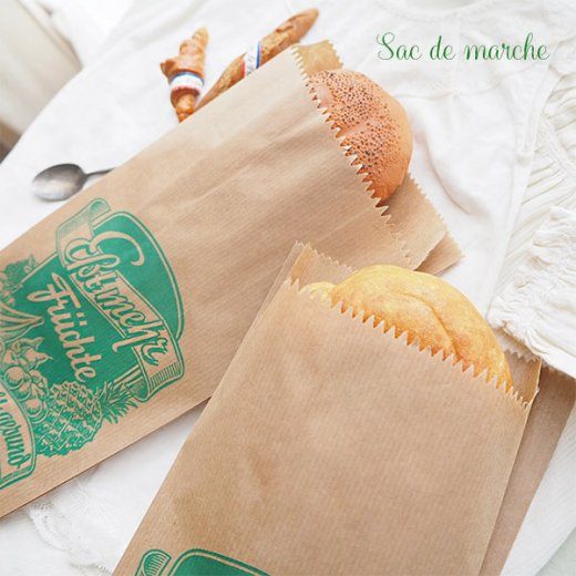 マルシェ袋 ドイツ 海外市場の紙袋(フルーツC)5枚セット【画像8】