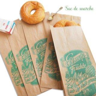 マルシェ袋 ドイツ 海外市場の紙袋(フルーツC)5枚セット