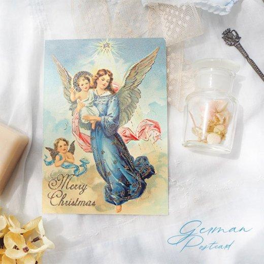ドイツ【ラメ付き】クリスマス ポストカード  (天使 Merry Christmas)【画像8】