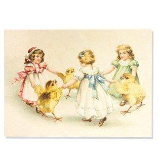 ドイツ直輸入! 【大判】イースター 復活祭 ポストカード エンボス加工 復刻 (ひよこ 幼子)