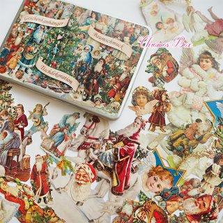 ドイツ クロモス TIN缶 クリスマス ギフトボックス 【クリスマス サンタクロース 天使】