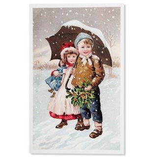 フランス クリスマスポストカード (聖夜)
