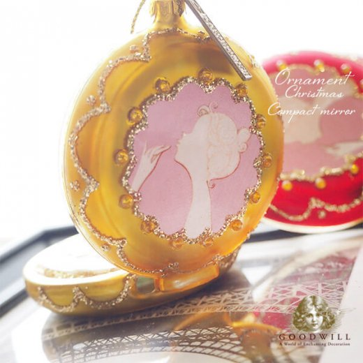 【単品販売】グッドウィル GOODWILL ベルギー直輸入 オーナメント 【コンパクトミラー】クリスマス・バレンタインデー【画像6】