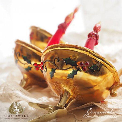 【単品販売】グッドウィル GOODWILL ベルギー直輸入 オーナメント 【キャンドル】クリスマス・バレンタインデー【画像2】