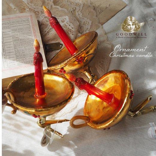 【単品販売】グッドウィル GOODWILL ベルギー直輸入 オーナメント 【キャンドル】クリスマス・バレンタインデー【画像4】