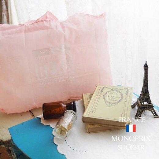 【フランス直輸入!】 MONOPRIX モノプリ エコバッグ【Pale pink ペールピンク】【画像5】