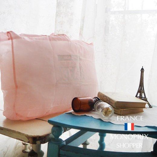 【フランス直輸入!】 MONOPRIX モノプリ エコバッグ【Pale pink ペールピンク】【画像6】