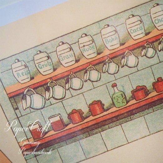 ドイツ直輸入! 【大判】ペーパードール 着せ替え ヴィンテージ復刻 (少年 少女 食器 キッチンツール)【画像3】