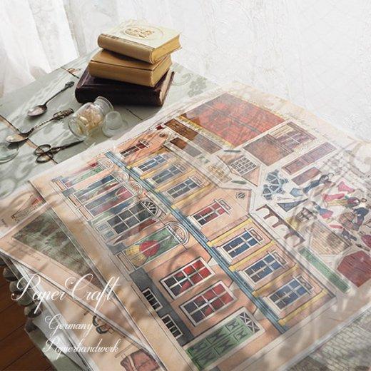 ドイツ直輸入! 【大判】ペーパークラフト 建物 ヴィンテージ復刻 (洋服 仕立て屋 card model)【画像8】