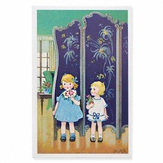 フランス ポストカード  (bouquet 幼子 花束)