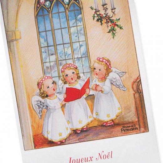 フランス クリスマスポストカード  (Hymne 幼子 賛美歌)【画像2】