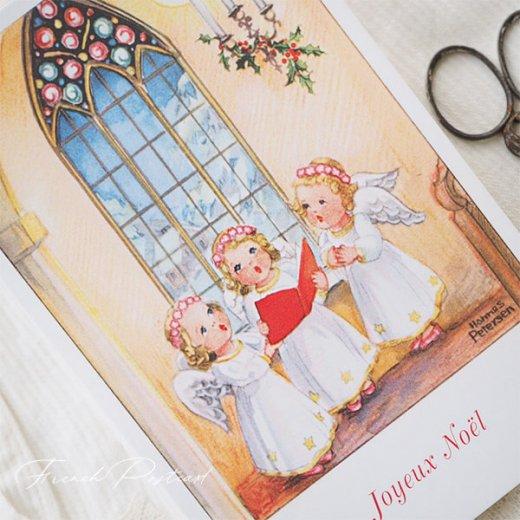 フランス クリスマスポストカード  (Hymne 幼子 賛美歌)【画像4】