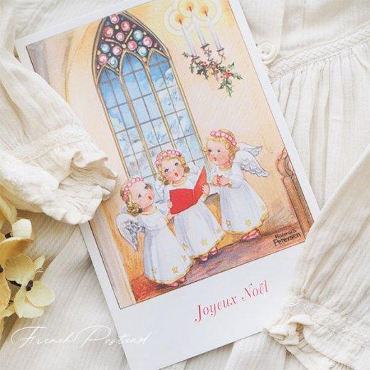 フランス クリスマスポストカード  (Hymne 幼子 賛美歌)【画像5】