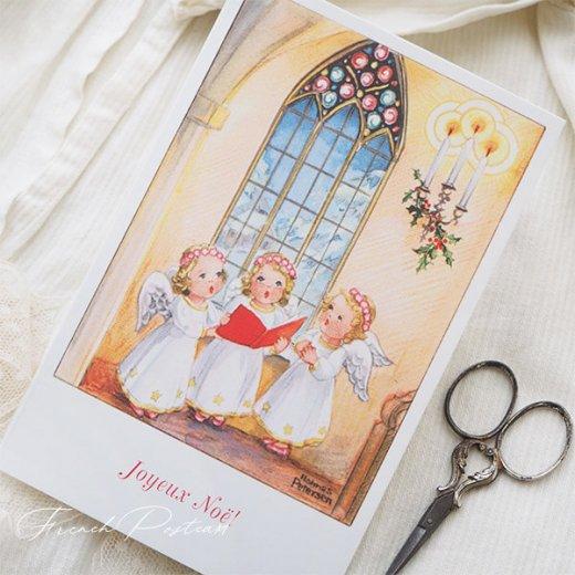 フランス クリスマスポストカード  (Hymne 幼子 賛美歌)【画像7】