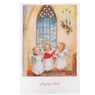 フランス クリスマスポストカード  (Hymne 幼子 賛美歌)