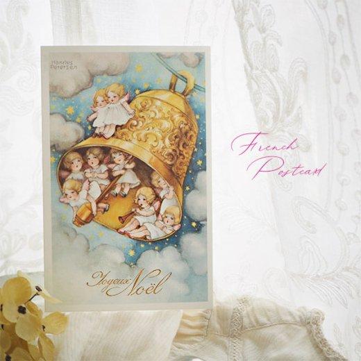 フランス クリスマスポストカード  (Cloche de Noël クリスマス・ベル 天使 賛美歌)【画像5】