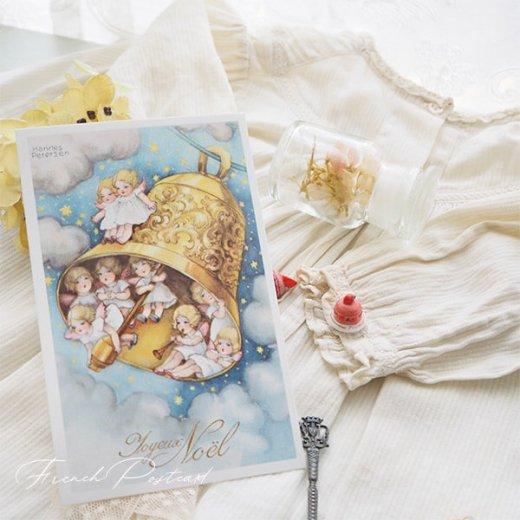 フランス クリスマスポストカード  (Cloche de Noël クリスマス・ベル 天使 賛美歌)【画像6】