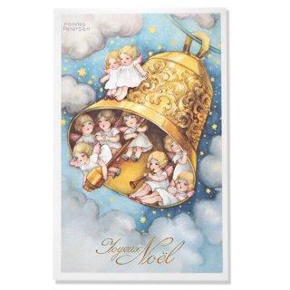 フランス クリスマスポストカード  (Cloche de Noël クリスマス・ベル 天使 賛美歌)