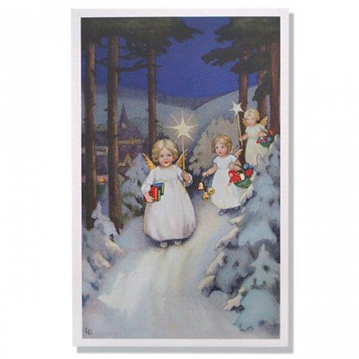 フランス クリスマスポストカード  (Marche des anges  天使の行進 クリスマス)