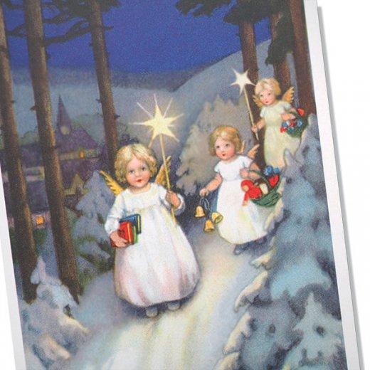 フランス クリスマスポストカード  (Marche des anges  天使の行進 クリスマス)【画像2】