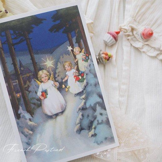 フランス クリスマスポストカード  (Marche des anges  天使の行進 クリスマス)【画像3】