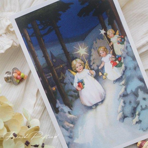 フランス クリスマスポストカード  (Marche des anges  天使の行進 クリスマス)【画像4】
