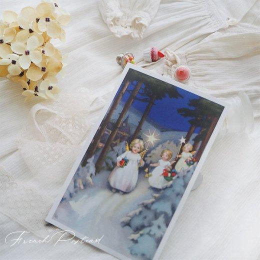フランス クリスマスポストカード  (Marche des anges  天使の行進 クリスマス)【画像6】