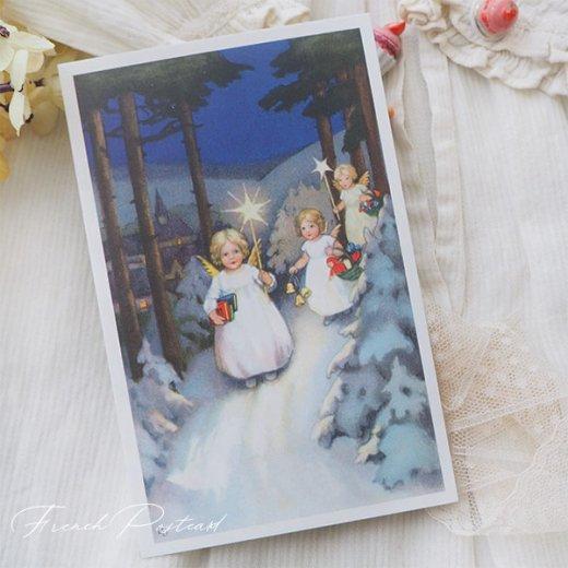 フランス クリスマスポストカード  (Marche des anges  天使の行進 クリスマス)【画像7】