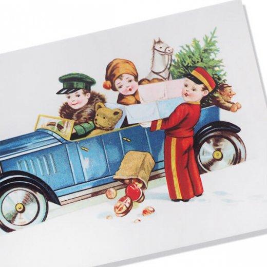 フランス クリスマスポストカード  (cadeau de Noëlクリスマスプレゼント ベア)【画像2】