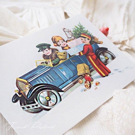 フランス クリスマスポストカード  (cadeau de Noëlクリスマスプレゼント ベア)【画像3】